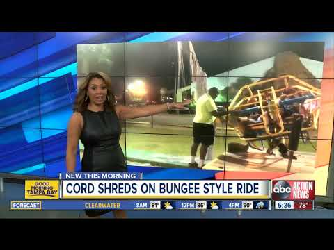 Eric Hunter - Woman Videos Bungee Shredding  On Slingshot Ride
