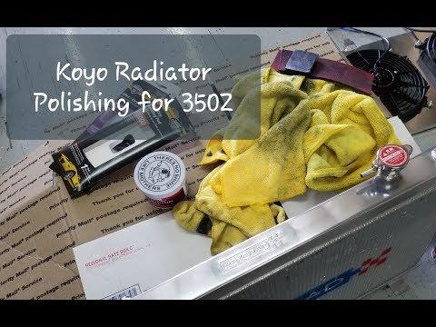 Polishing Koyo Radiator For 350Z / Polishing Aluminum Radiator KoyoRad