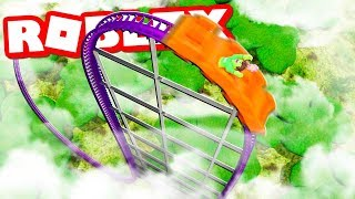 BUILDS THE WORLD'S TALLEST ROLLER COASTER IN ROBLOX THEME PARK TYCOON 2
