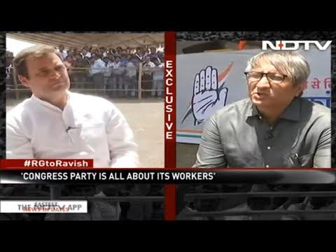 Congress President Rahul Gandhi Speaks To NDTV's Ravish Kumar In Madhya Pradesh