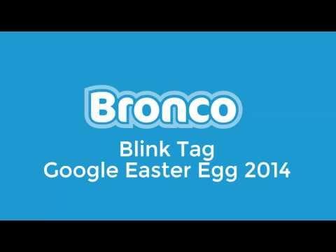 Google Blink HTML Easter Egg