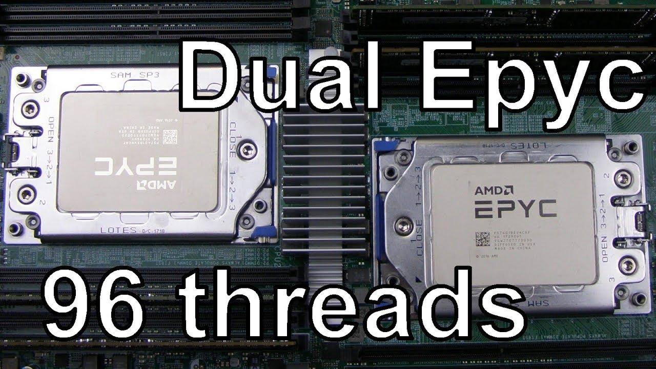 Dual AMD Epyc server - 96 procesorových vláken