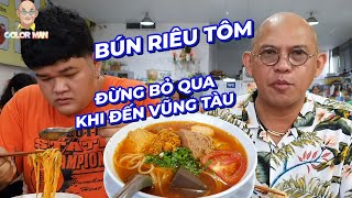 Shrimp noodle soup (Bun Rieu) seems to taste better than the one with crab