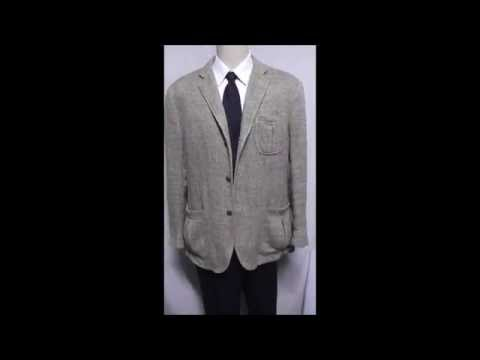 D23 DAVIS23 L POLO RUGBY BLAZER 25.5 WORKING SLEEVE SPORT COAT JACKET TAN