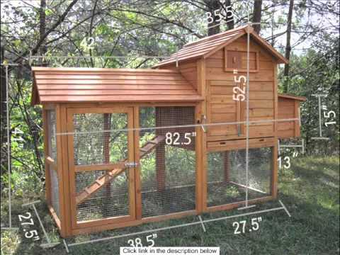 2 Story Large Chicken Coop Hutch Hen House Cage Poultry