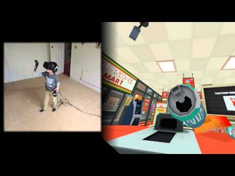 6 Year Old Tries Virtual Reality 'Job Simulator' Game