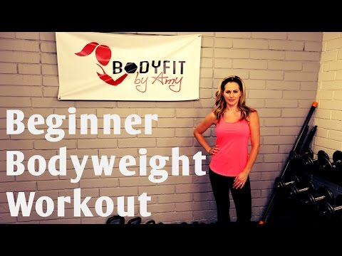 20 Minute Beginner Bodyweight Workout for Fat Loss and Strength