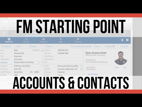 FMSP Accounts and Contacts Modules | FileMaker Pro 17 Videos | FileMaker 17 Training