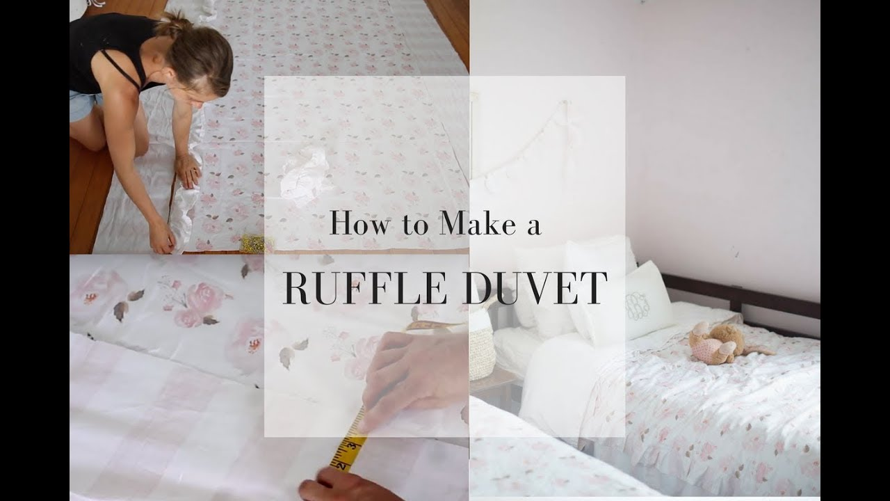 How to Make a Duvet Cover - YouTube