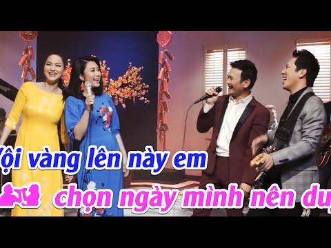 Vội Vàng Đón Xuân Karaoke Song Ca - Hoàng Thục Linh, Đoàn Phi, Hồ Hoàng Yến, Quốc Khanh