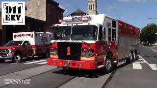Philadelphia Fire Engine 29, Rescue 1, Rescue 1A Responding