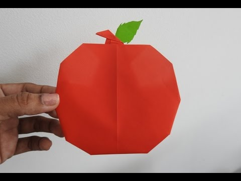 How To Make An Origami Apple Easily Fruit Paper Craft Kids Craft