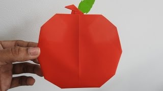 How to make an Origami Apple easily ~~ Folding Instructions/Tutorial...