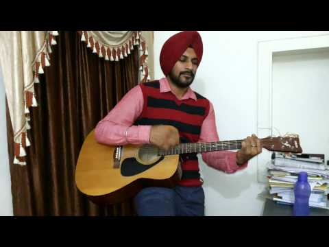 Meri Mehbooba (Pardes) Acoustic Guitar Cover With Elbow Percussions By Angadjeet Singh