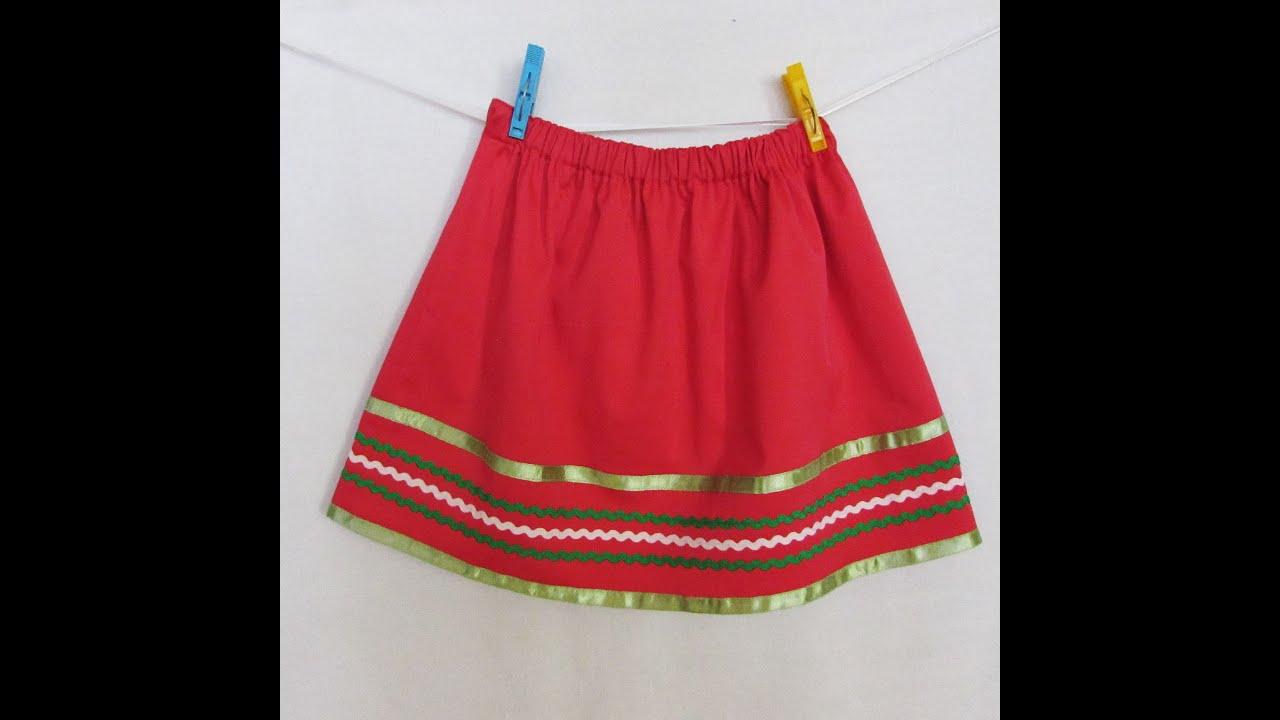 Шитье юбки для девочек мастер-класс