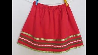 Мастер Класс. Пошив юбки для девочки.
