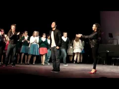 Curtain Call of the production Grease at Heritage HS 2015
