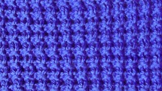 Рельефный плотный узор Вязание спицами Видеоурок 47