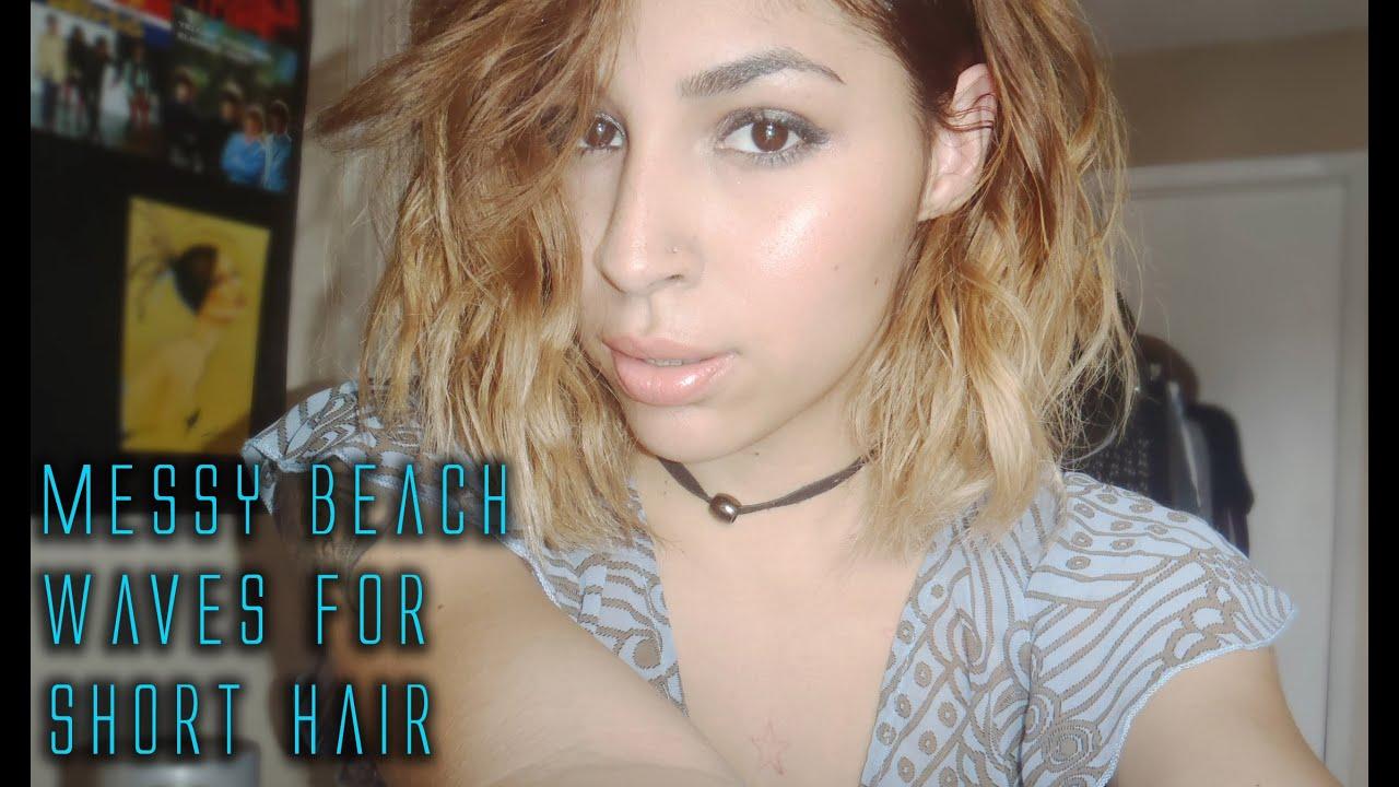 MESSY BEACH WAVES | SHORT HAIR - YouTube