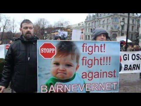 Barnevern demonstrasjon Oslo. 1 av 2  - 20.02.2016