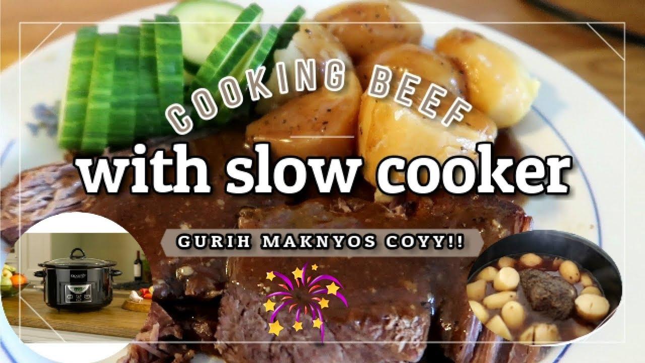 Masak Daging With Slow Cooker Crockpot Easy Dinner Youtube