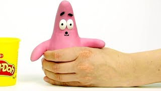 Patrick Spongebob 💕 Superhero Play Doh Stop motion cartoons for kids