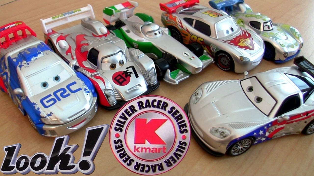 Cars silver racer poster 2 - Cars 2 Silver Racer Series Metallic Finish Kmart K Day 8 Diecast Toys Collectors Event Disney Pixar Youtube