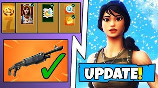 *NEW* Fortnite Update! Snow Falling on Map, Onesie Skin in Season 7 Battle Pass, NEW Shotguns FIXED!