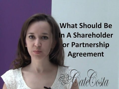 What Should Be in a Shareholder or Partnership Agreement