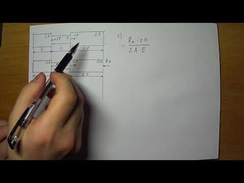 Растяжение - сжатие, расчет статически неопределимого стержня