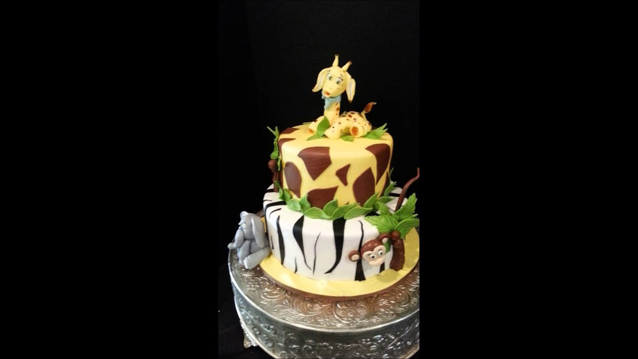 Safari Themed Baby Shower Cake Youtube