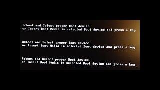 Reboot and select proper Boot Device Pada Laptop, PC Computer || Hardisk tidak Terbaca - No Detect