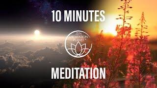 10 Minutes Mindfulness Meditation - Positive Energy Flow, Morning Meditation Music