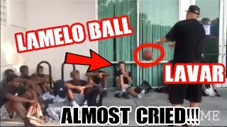 LAVAR BALL YELLS AT LAMELO BALL