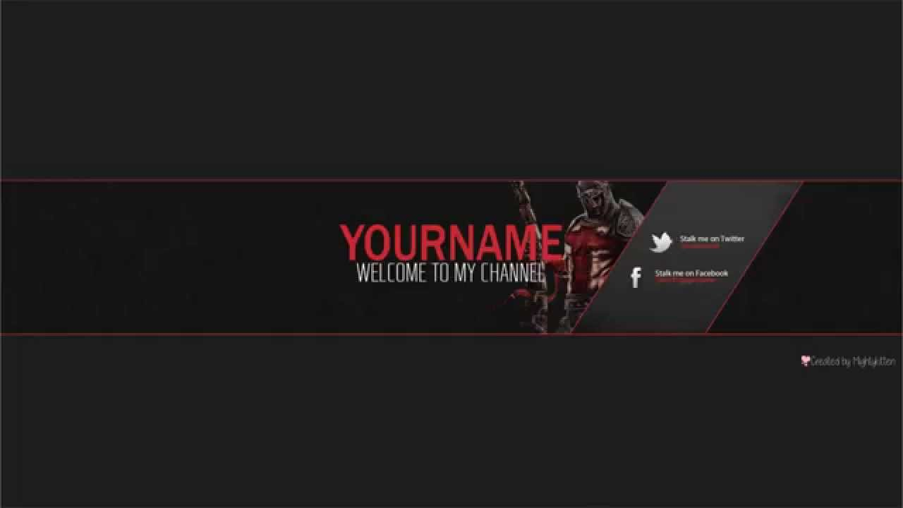 Free youtube Banner PSD template - YouTube