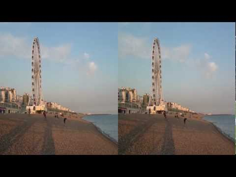 North Laines and the Beach in Brighton tour video in 3D 2012