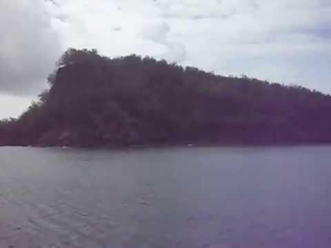 Leaving Pagan Island, Micronesia (Northern Mariana Islands)