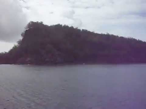 Leaving Pagan Island, Micronesia (Northern Mariana Islands)