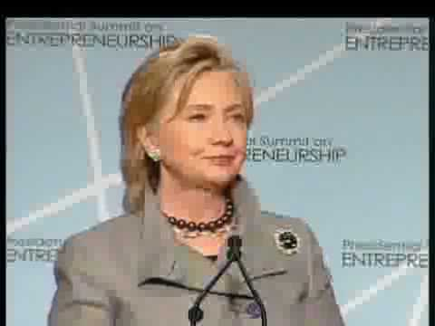 Secretary of State Hillary Clinton presents the Global Technology and Innovation Partners (GTIP)