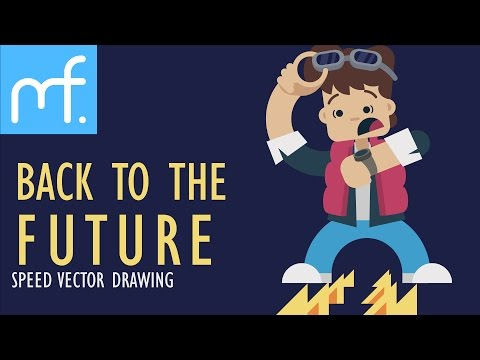 Back to the Future Special! | Speed Drawing, Flat Character