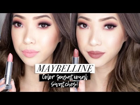 new-maybelline-color-sensational-matte-lipstick-swatches!