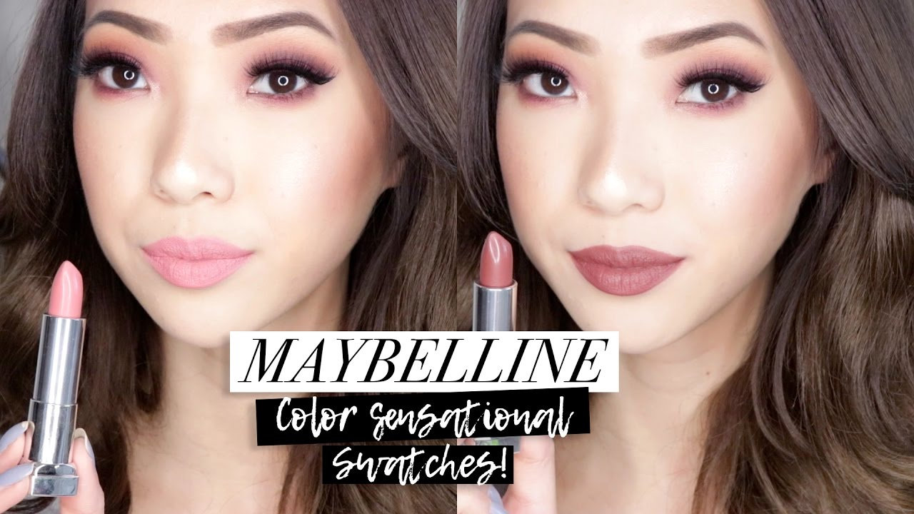 New Maybelline Color Sensational Matte Lipstick Swatches Youtube