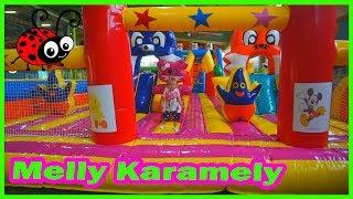 Fun Indoor Playground for family and  Kids☺Melissa la Panda Kids ☺Tobogane