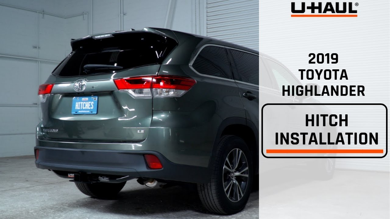 2019 Toyota Highlander Trailer Hitch Installation