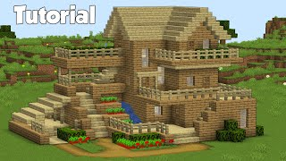 Minecraft How To Build A Wooden House Easy Survival House Tutorial Youtube