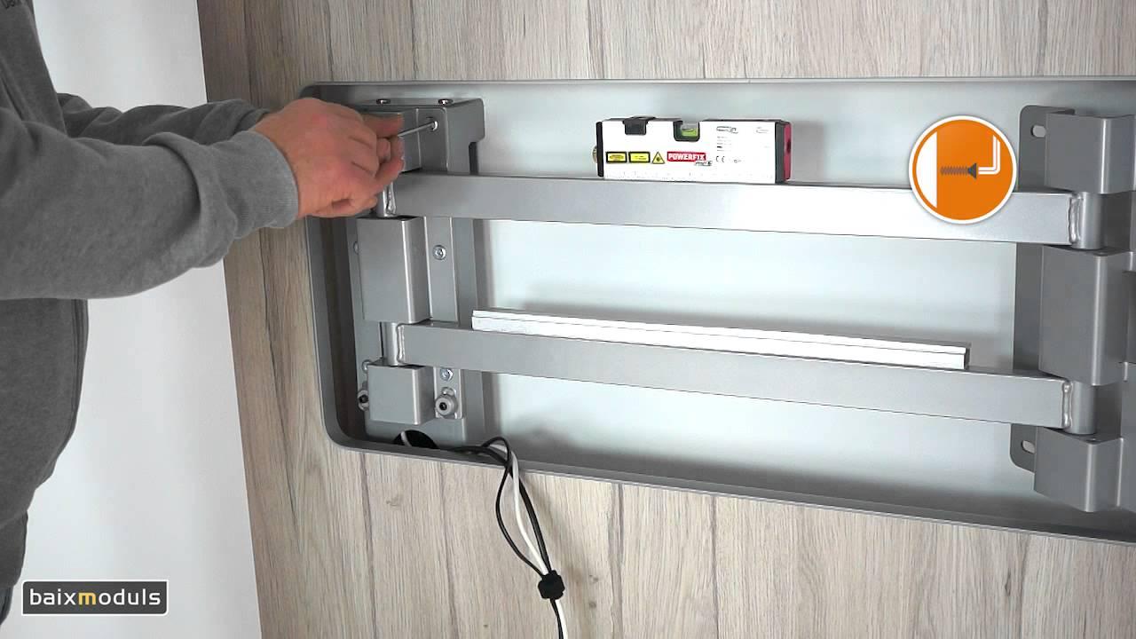 Instrucciones montaje mueble tv 105 youtube for Mueble giratorio para tv