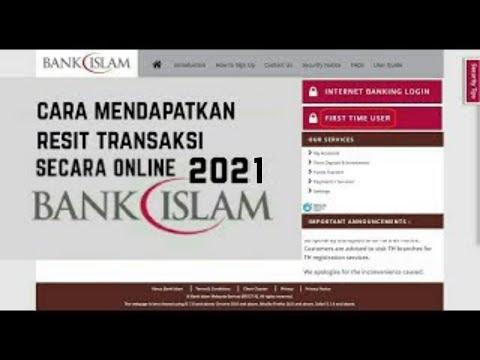 Cara Dapatkan Resit Transaksi Bank Islam Secara Online 2020 Youtube