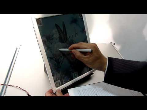 ペン入力対応のカラー電子ペーパー,ブリヂストンが開発