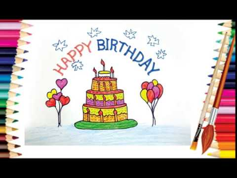 Drawing For Kids Cake