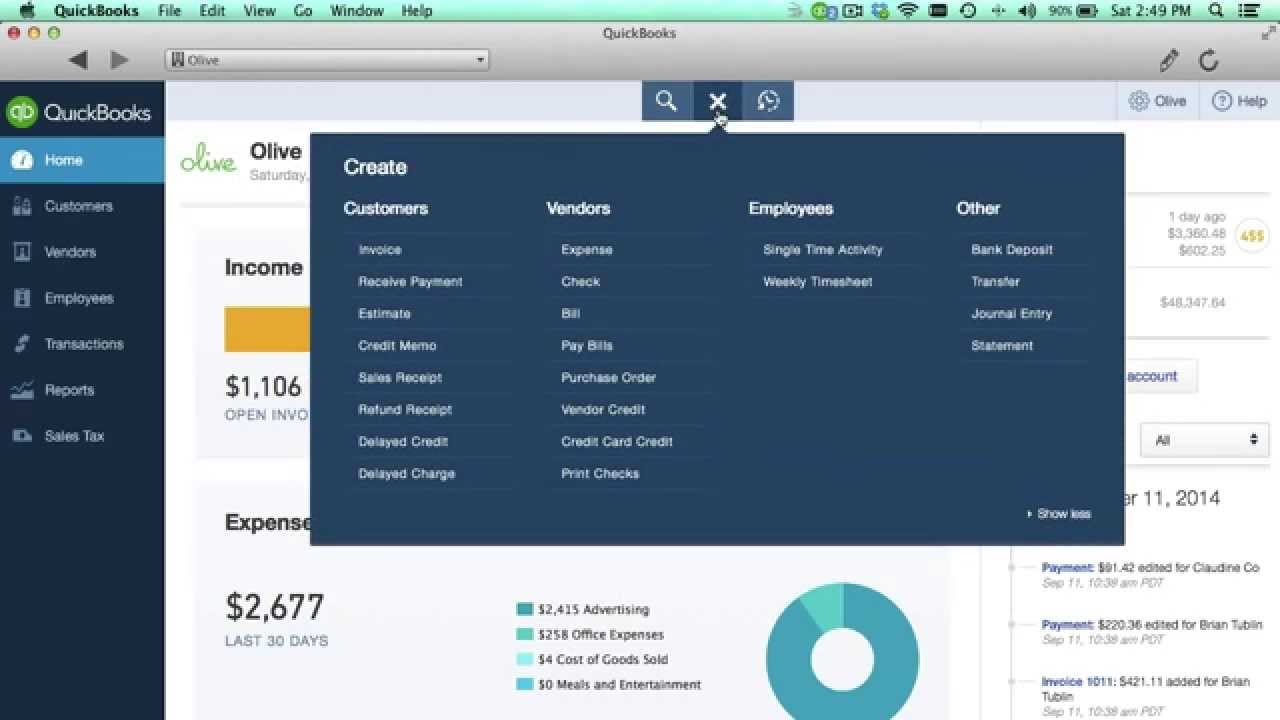 QuickBooks Online Tutorial: What's Covered